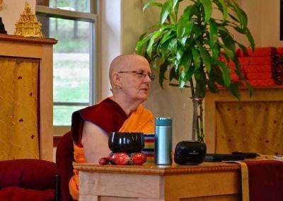 Ven. Jigme begins the weekend teachings on Friday evening.