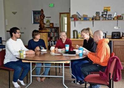 The young adults flourish under the retreat leadership of young adult Ven. Lamsel.