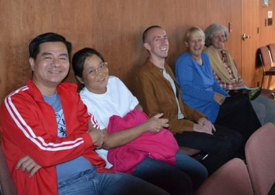 Guests from all over: Seow Hong and Leng Poh from Singapore, Michel from Germany and LA, Bernie from the Washington coast, and Edith from Germany.