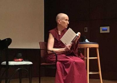 Ven. Chodron talks about the Abbey at the Northwest Museum of Arts & Culture in Spokane.