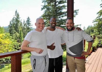 Joseph, Desmond, and Renato are good Dharma friends.