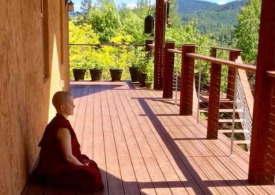 The Abbey provides conducive circumstances for reflection and meditation on the Dharma.