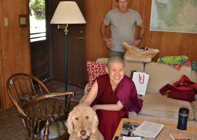 Ven. Pema and one of her friends.
