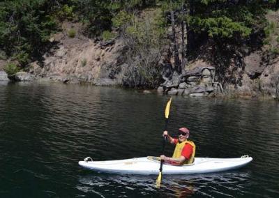 Ven. Semkye has a blast canoeing!
