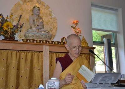 """Ven. Chodron teaches from """"An Open-Hearted Life."""""""