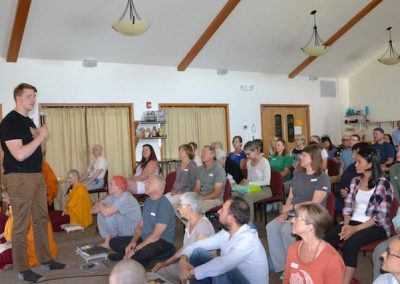 """Gabe introduces our guests into the Abbey's culture of """"inviting generosity."""""""