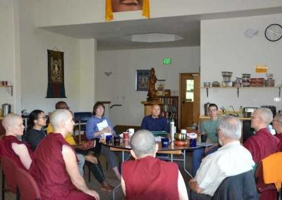 Course participants join in the vibrant discussion group that we offered every other day.