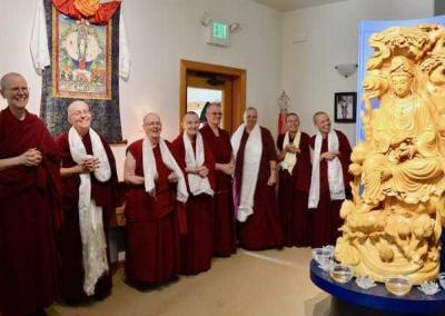 The Abbey community welcomes Ven. Sangye Khadro with joy and gratitude.