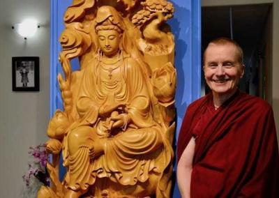 Ven. Sangye Khadro will stay with the community for about 2 months to share teachings and meditation instructions.