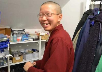 Ven. Damcho prepares to travel to India as Ven. Chodron's assistant.