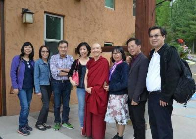 Ven. Pende's old friends from high school in Vietnam visited to reconnect and explore the Abbey.