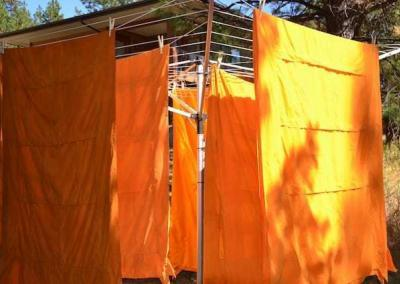 A beautiful sunny day for our annual outer robe washing.