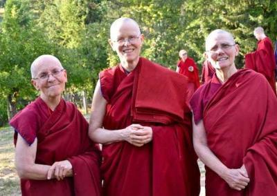 Our three harmonizers (senior monastics): Vens. Semkye, Tarpa, and Chonyi.