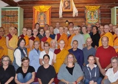 A thankful group, who gained more experience and tools to practice concentration on the cushion and mindfulness in daily life.