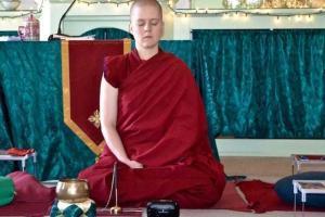 nun meditating