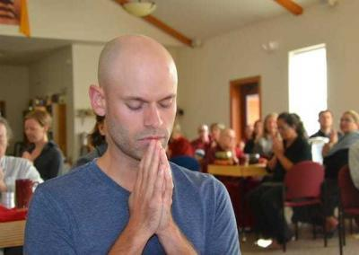 All guests participate in daily prayers before and after meals.