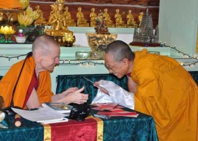 Ven. Tenzin Dronsel offers her gratitude after a long weekend teaching with Ven. Sangye Khadro.