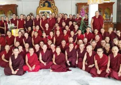 With the Jamyang Choling nuns.