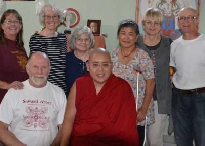 The Coeur d'Alene Dharma Friends, our lunch hosts, were active in helping Ven. Chodron to establish Sravasti Abbey.