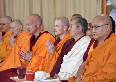Geshe Thubten Phelgye and Lama Lakshey Zangpo join us for the teaching.