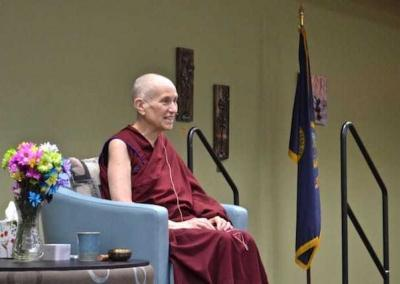 Venerable Chodron enjoys connecting with the community and young people.
