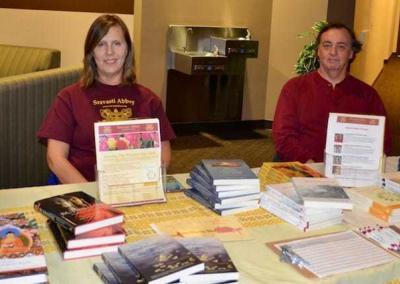 Our Dharma friends from Coeur D'Alene offer a book table and information for all guests.