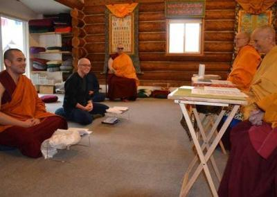 Ven. Tenzin and Em request training during their long-terms visits at the Abbey.