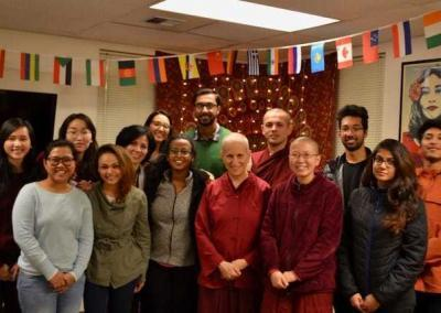 Students make close connections with Ven. Chodron.