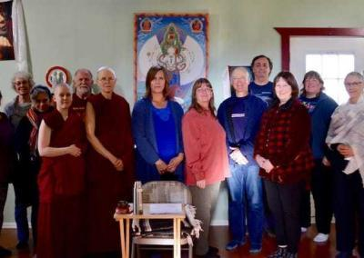 Ven. Tarpa shares teachings on developing concentration with the Coeur d'Alene (ID) Dharma Friends.
