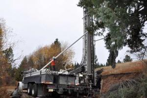 truck drilling a well