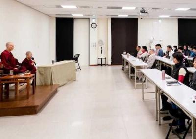 Ven. Chodron also teaches at Dharma Drum in Taipei.
