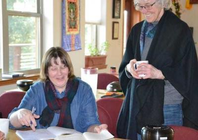 Tracy and Susan enjoy going through the exercises presented in the book.