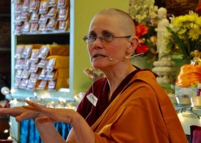 Ven. Chonyi brings her personal experiences when sharing the Dharma, making the topic accessible for all.