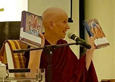 Poh Ming Tse presents a book launch of Ven. Chodron's two newest books, co-written with His Holiness the Dalai Lama.