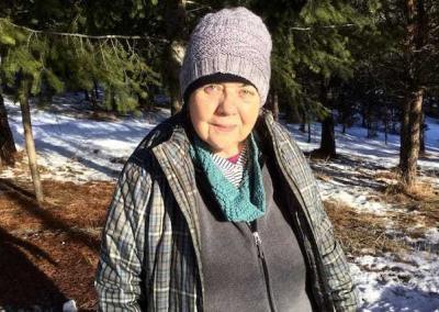 laywoman outside in winter