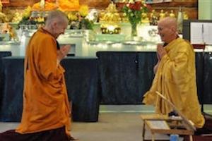 monastics performing varsa