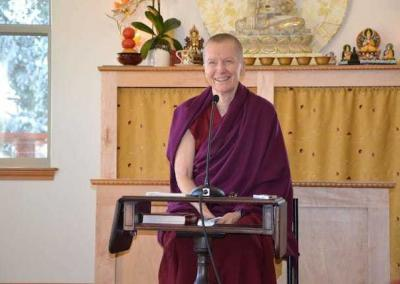 Ven. Sangye Khadro gave a wonderful talk about Losar and the great benefits that day brings.