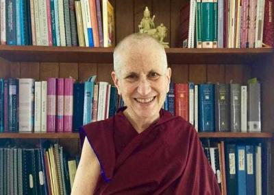 Ven. Chodron, founder, abbess, and teacher of Sravasti Abbey