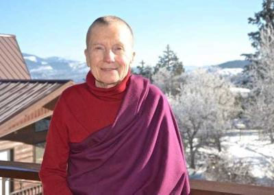 Ven. Sangye Khadro, guest senior nun and teacher.