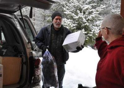 Daniel is part of the team of volunteers who bring food each week regardless of the weather.