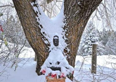 Kuan Yin Buddha in front of the Writing Studio.
