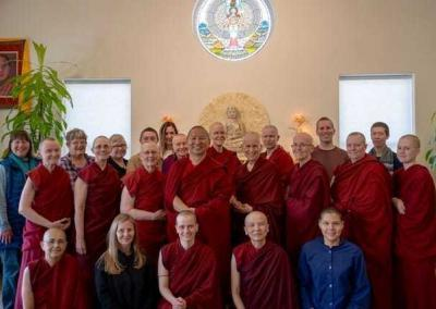 A happy group aspires to develop Great Compassion.