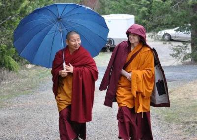 Ven. Losang is Geshe-la's attendant, which he did with great enthusiasm.