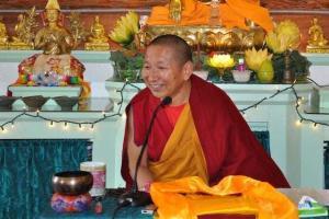 Monk teaching