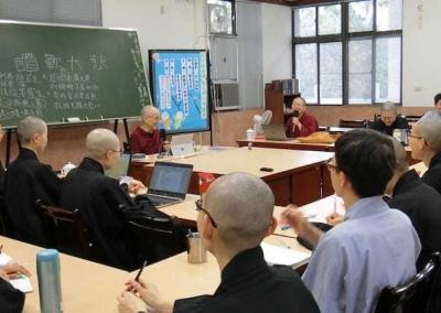 nun teaching class of nuns
