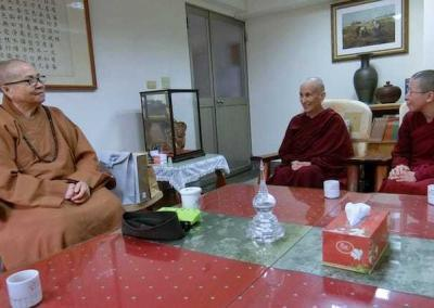 Ven. Chodron and Ven. Damcho join Luminary abbess Ven. Master Wuyin to discuss full ordination ceremonies.