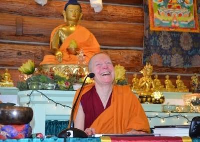 Ven. Sangye Khadro delights in giving teachings.