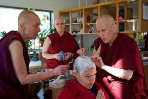 nuns shaving laywoman's head
