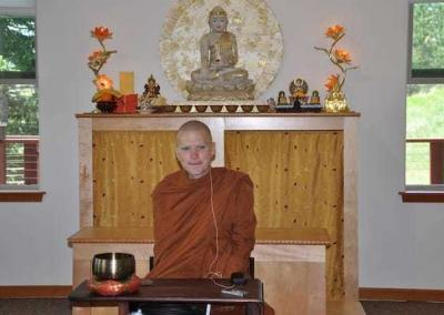 Tan Nisabho, a monk in the Thai Forest Tradition, has strong ties with the Abbey and visits when he can.