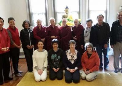 On arrival in Sydney, this group of kind friends and excellent cooks picked up the nuns and offered lunch at Vajrayana Institute.